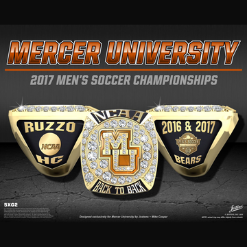 Mercer University Men's Soccer 2017 SoCon Championship Ring