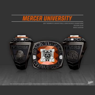 Mercer University Women's Basketball 2017 SoCon Championship Ring