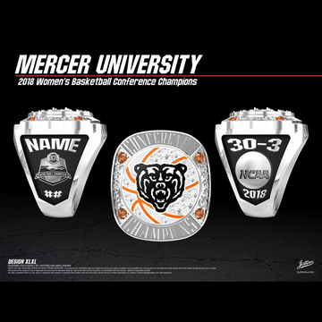 Mercer University Women's Basketball 2018 SoCon Championship Ring