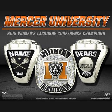 Mercer University Women's Lacrosse 2018 SoCon Championship Ring