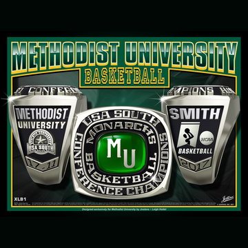 Methodist University Men's Basketball 2017 USA South Championship Ring