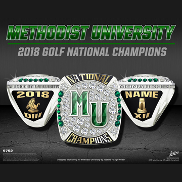 Methodist University Men's Golf 2018 National Championship Ring