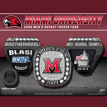 Miami University Men's Ice Hockey 2009 Frozen Four Championship Ring