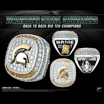 Michigan State University Men's Basketball 2019 Big Ten Championship Ring