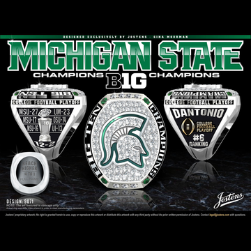 Michigan State University Men's Football 2015 Big Ten Championship Ring