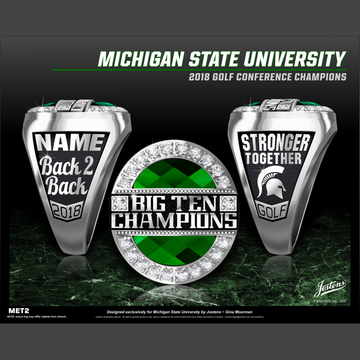 Michigan State University Women's Golf 2018 Big Ten Championship Ring