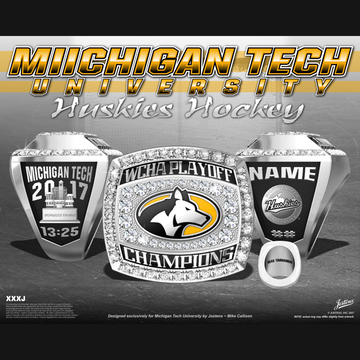 Michigan Tech University Women's Ice Hockey 2017 WCHA Playoff Championship Ring