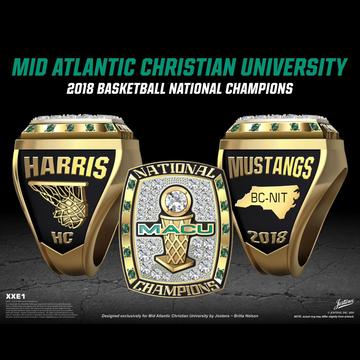 Mid-Atlantic Christian University Men's Basketball 2018 National Championship Ring