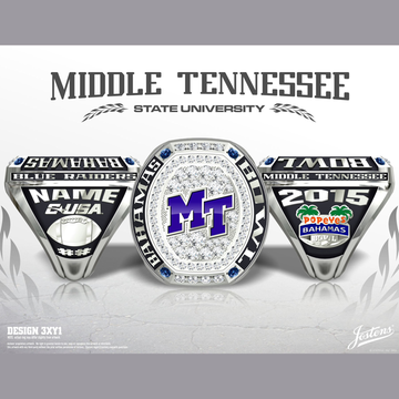 Middle Tennessee State University Men's Football 2015 Bahamas Bowl Championship Ring