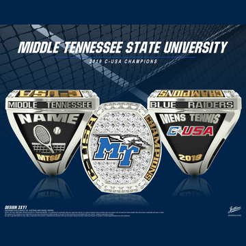 Middle Tennessee State University Men's Tennis 2019 Conference USA Championship Ring