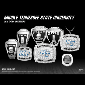 Middle Tennessee State University Women's Softball 2018 Conference USA Championship Ring