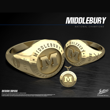 Middlebury College Women's Field Hockey 2017 National Championship Ring