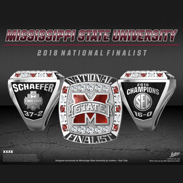 Mississippi State University Women's Basketball 2018 Final Four Championship Ring