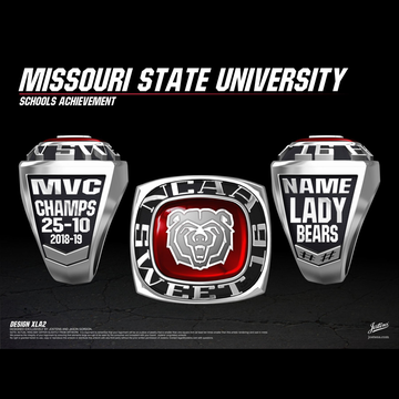 Missouri State University Women's Basketball 2019 Sweet 16 Championship Ring