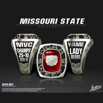 Missouri State University Women's Basketball 2019 Sweet 16 Championship Ring