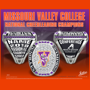Missouri Valley College Coed Cheer 2018 National Championship Ring