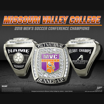 Missouri Valley College Men's Soccer 2017 National Runner-Up Championship Ring