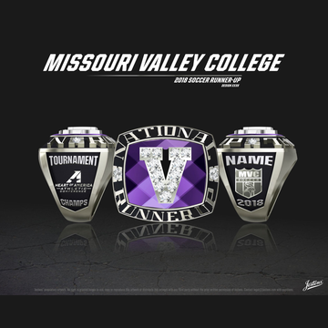 Missouri Valley College Men's Soccer 2018 National Runner-Up Championship Ring