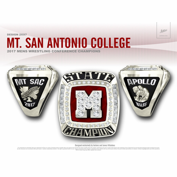 Mount San Antonio College Men's Wrestling 2017 CCCAA State Championship Ring