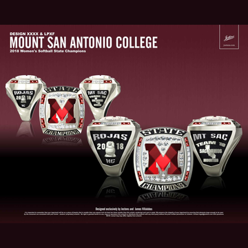 Mount San Antonio College Women's Softball 2018 CCCAA State Championship Ring