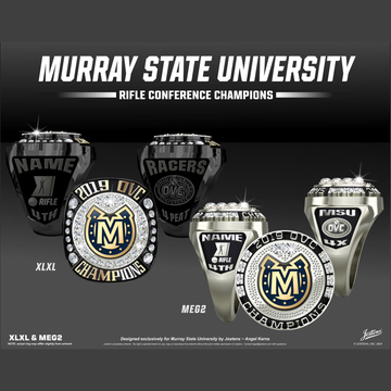 Murray State University Coed Rifle 2019 OVC Championship Ring