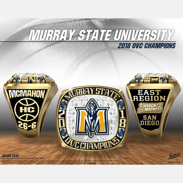 Murray State University Men's Basketball 2018 OVC Championship Ring