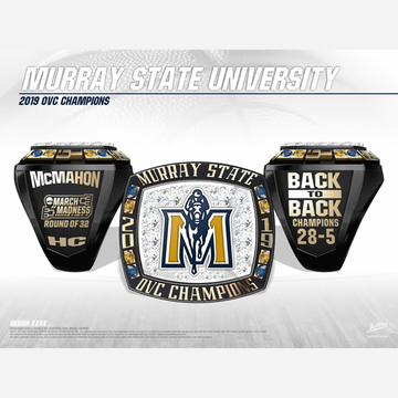 Murray State University Men's Basketball 2019 OVC Championship Ring