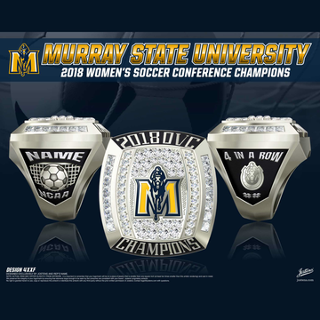Murray State University Women's Soccer 2018 OVC Championship Ring