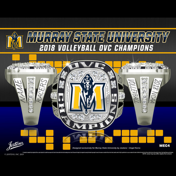 Murray State University Women's Volleyball 2018 OVC Championship Ring