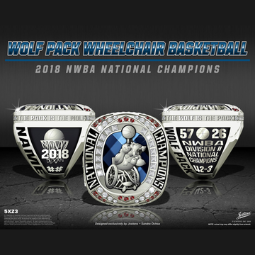 Naval Medical Center San Diego Men's Basketball 2018 NWBA National Championship Ring