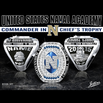 Navy Men's Football 2015 Commander In Chief's Trophy Championship Ring