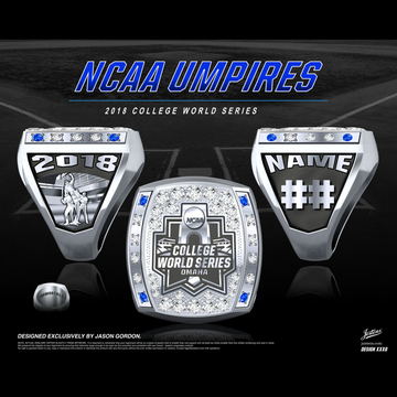 NCAA Umpires Men's Baseball 2018 College World Series Championship Ring