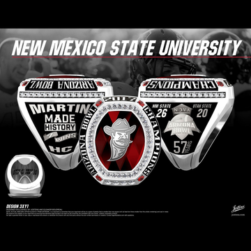 New Mexico State University Men's Football 2017 Arizona Bowl Championship Ring