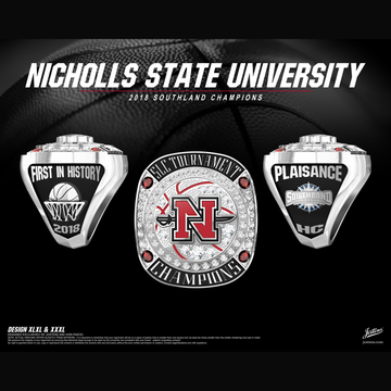 Nicholls State University Women's Basketball 2018 Southland Championship Ring
