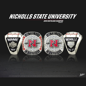 Nicholls State University Women's Softball 2018 Southland Championship Ring