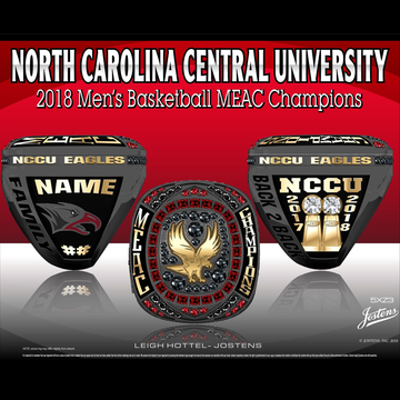 North Carolina Central University Men's Basketball 2018 MEAC Championship Ring
