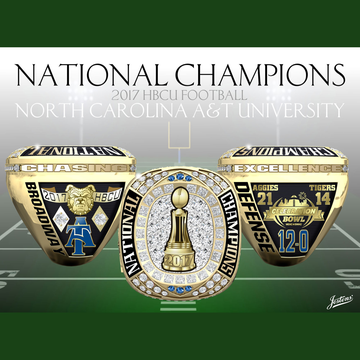 North Carolina A&T University Men's Football 2017 HBCU National Championship Ring