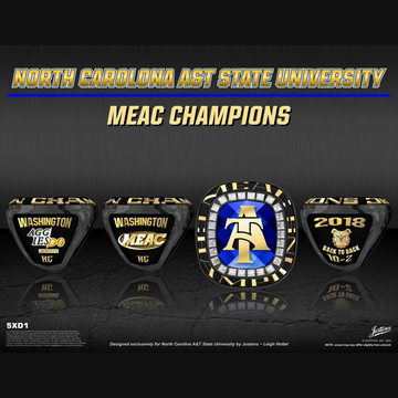 North Carolina A&T University Men's Football 2018 MEAC Championship Ring