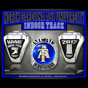 North Carolina A&T University Women's Track & Field 2017 MEAC Championship Ring