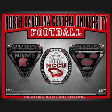 North Carolina Central University Men's Football 2016 MEAC Championship Ring