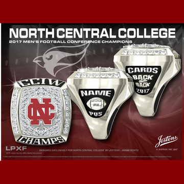 North Central College Men's Football 2017 CCIW Championship Ring