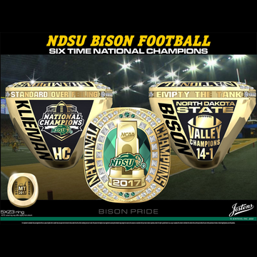North Dakota State University Men's Football 2017 National Championship Ring