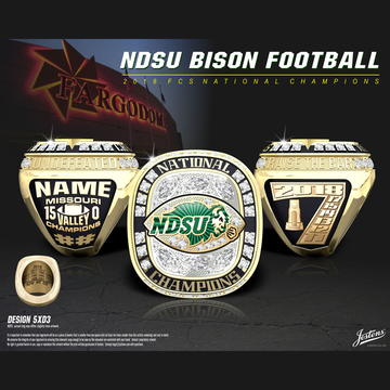 North Dakota State University Men's Football 2018 National Championship Ring