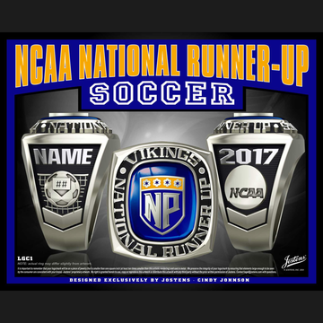 North Park University Men's Soccer 2017 National Runner-Up Championship Ring