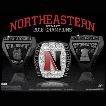 Northeastern University Women's Ice Hockey 2018 Hockey East Championship Ring
