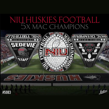 Northern Illinois University Men's Football 2018 MAC Championship Ring