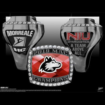 Northern Illinois University Men's Gymnastics 2019 MAC Championship Ring