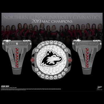 Northern Illinois University Women's Gymnastics 2019 MAC Championship Ring