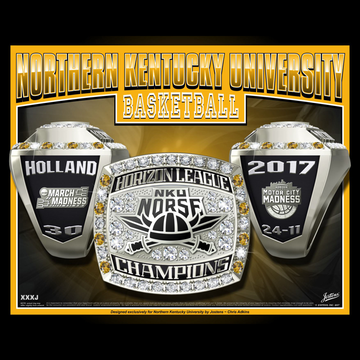 Northern Kentucky University Men's Basketball 2017 Horizon League Championship Ring