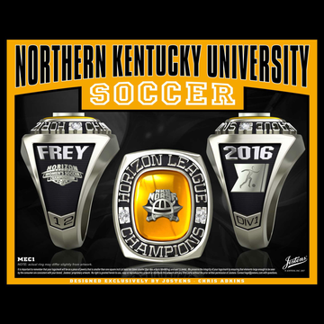 Northern Kentucky University Women's Soccer 2016 Horizon League Championship Ring